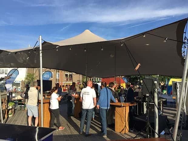 Stretchtent Verhuur Twente: Stretchtent gekoppeld 5 x 15 meter